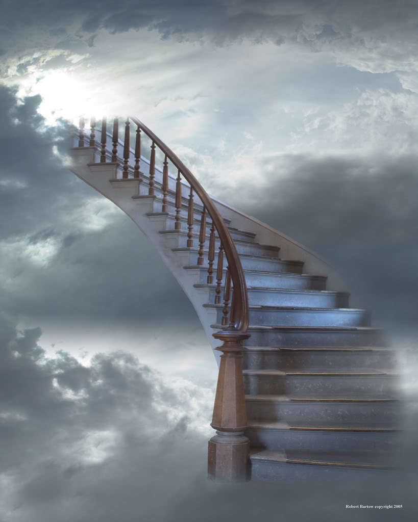stairs up into heaven